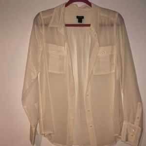 JCrew 100% Silk Long Sleeve Blouse